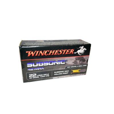 WINCHESTER .22LR SUBSONIC MAX HP 42gr 50ks